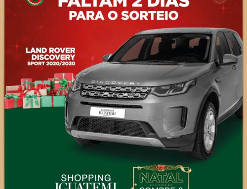 FALTAM APENAS 2 DIAS PARA O SORTEIO DA LAND ROVER DISCOVERY SPORT 2020/2020
