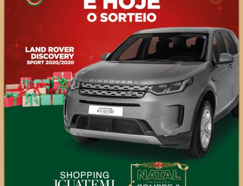 É HOJE O SORTEIO DA LAND ROVER DISCOVERY SPORT 2020/2020