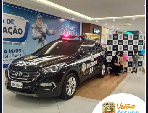 Ação Verão Seguro em parceria com a Polícia Civil no Shopping Iguatemi Florianópolis