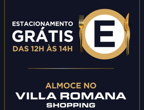 Villa Romana Shopping terá estacionamento gratuito no horário do almoço