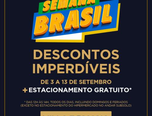 Semana do Brasil no Villa Romana tem estacionamento gratuito* e ofertas imperdíveis