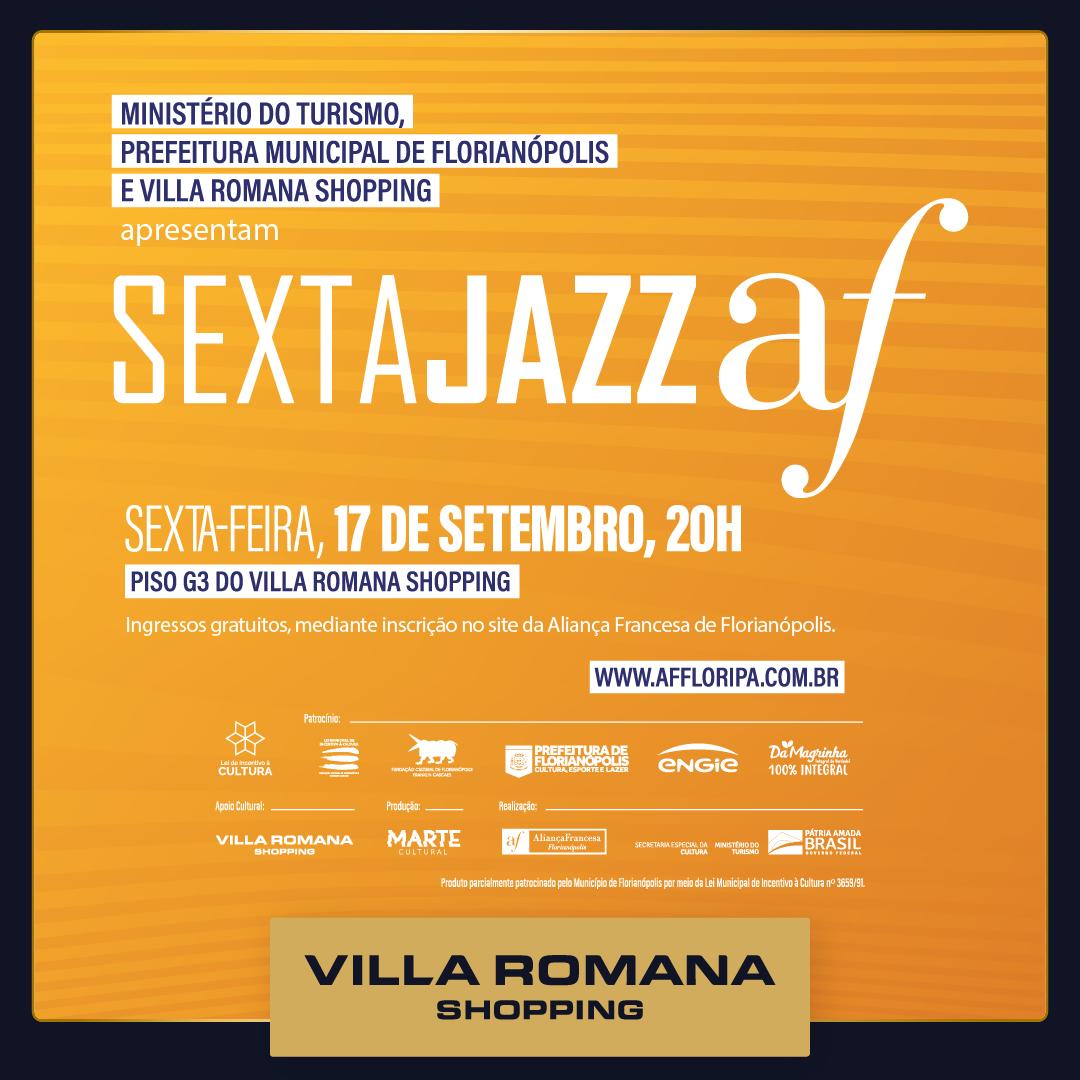 Sexta Jazz AF retoma apresentações no Villa Romana Shopping